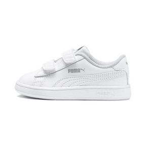 Thumbnail 1 of Smash v2 Kids' Trainers, Puma White-Puma White, medium