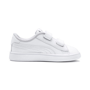 Thumbnail 5 of Smash v2 Kinder Sneaker, Puma White-Puma White, medium