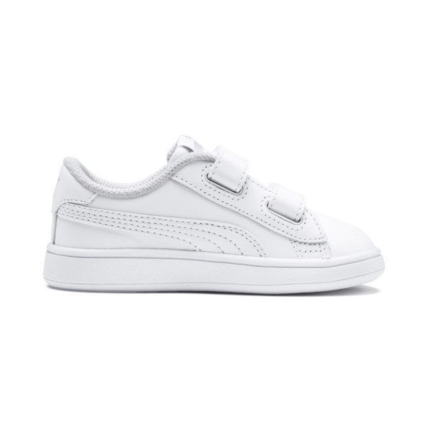Smash v2 Kids' Trainers, Puma White-Puma White, large
