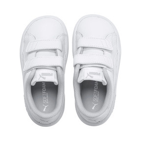 Thumbnail 6 of Smash v2 Kids' Trainers, Puma White-Puma White, medium