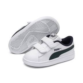 Thumbnail 2 of Smash v2 Kids' Trainers, Puma White-Ponderosa Pine, medium
