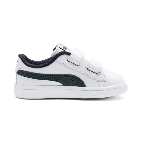 Smash v2 Kids' Trainers, Puma White-Ponderosa Pine, large