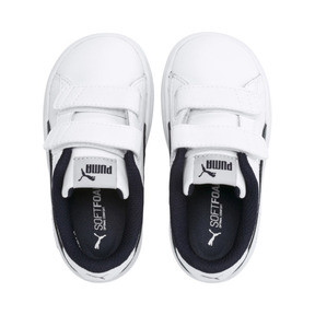 Thumbnail 6 of Smash v2 Kids' Trainers, Puma White-Ponderosa Pine, medium