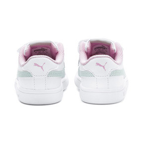 Thumbnail 3 of Smash v2 Kids' Trainers, White-Fair Aqua-Pale Pink, medium