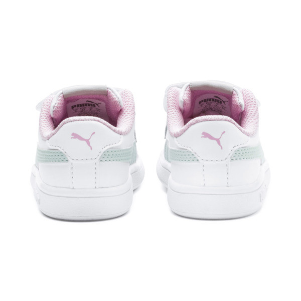 Smash v2 Kids' Trainers, White-Fair Aqua-Pale Pink, large