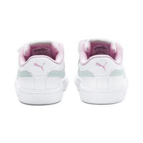 Thumbnail 3 of Puma Smash v2 L V Toddler Shoes, White-Fair Aqua-Pale Pink, medium