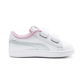 Thumbnail 5 of Puma Smash v2 L V Toddler Shoes, White-Fair Aqua-Pale Pink, medium