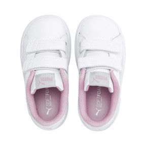 Thumbnail 6 of Smash v2 Kids' Trainers, White-Fair Aqua-Pale Pink, medium