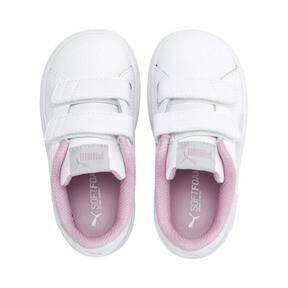 Thumbnail 6 of Puma Smash v2 L V Toddler Shoes, White-Fair Aqua-Pale Pink, medium