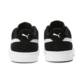 Thumbnail 4 of Smash v2 Suede Sneakers JR, Puma Black-Puma White, medium