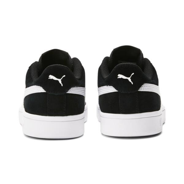 Smash v2 Suede Sneakers JR, Puma Black-Puma White, large