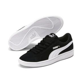 Thumbnail 2 of Smash v2 Suede Sneakers JR, Puma Black-Puma White, medium