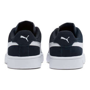 Thumbnail 4 of Smash v2 Suede JR Sneakers, Peacoat-Puma White, medium