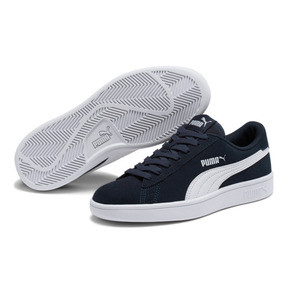 Thumbnail 2 of Smash v2 Suede JR Sneakers, Peacoat-Puma White, medium