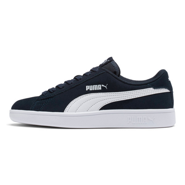 Smash v2 Suede JR Sneakers, Peacoat-Puma White, large