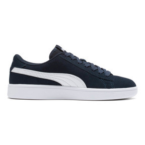 Thumbnail 5 of Smash v2 Suede JR Sneakers, Peacoat-Puma White, medium