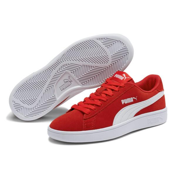 Zapatos deportivosSmash v2Suede para JR, High Risk Red-Puma White, grande
