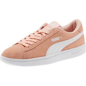 Thumbnail 1 of Smash v2 Suede JR Sneakers, Peach Bud-Puma White, medium