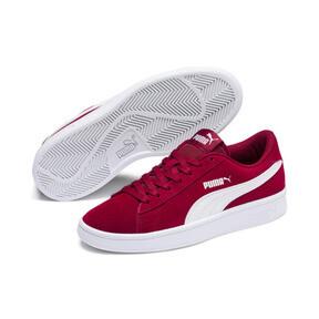 Thumbnail 2 of Smash v2 Suede Sneakers JR, Rhubarb-Puma White, medium