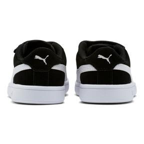Thumbnail 4 of Smash v2 Suede Little Kids' Shoes, Puma Black-Puma White, medium