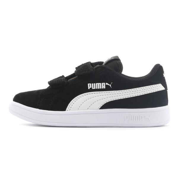 キッズ プーマ スマッシュ V2 SD V PS (17-21cm), Puma Black-Puma White, large-JPN