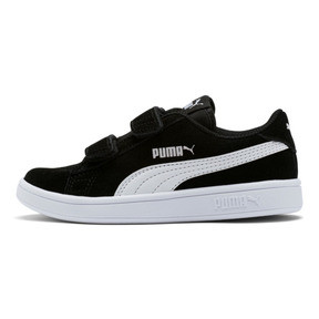 Thumbnail 1 of Smash v2 Suede Little Kids' Shoes, Puma Black-Puma White, medium