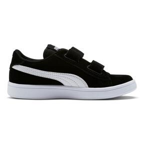 Thumbnail 5 of Smash v2 Suede Little Kids' Shoes, Puma Black-Puma White, medium