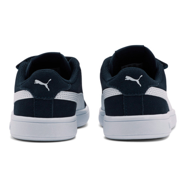 ZapatosSmash v2Suede para niños, Peacoat-Puma White, grande