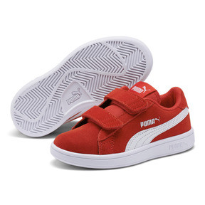 Thumbnail 2 of Smash v2 Suede Little Kids' Shoes, High Risk Red-Puma White, medium