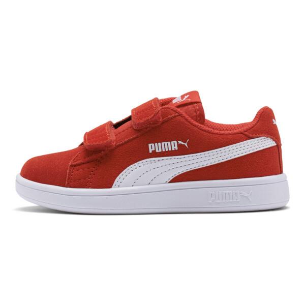 ZapatosSmash v2Suede para niños, High Risk Red-Puma White, grande