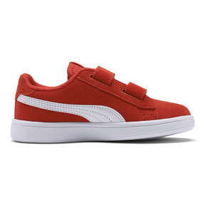 Thumbnail 5 of Smash v2 Suede Little Kids' Shoes, High Risk Red-Puma White, medium