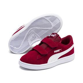 Miniatura 2 de ZapatosSmash v2Suede para niños, Rhubarb-Puma White, mediano