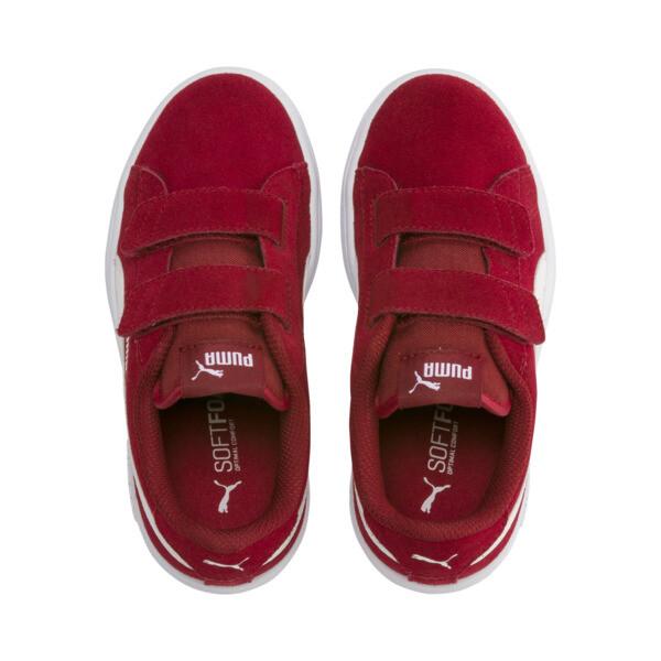 ZapatosSmash v2Suede para niños, Rhubarb-Puma White, grande