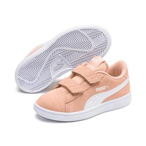Miniatura 2 de ZapatosSmash v2Suede para niños, Peach Parfait-Puma White, mediano