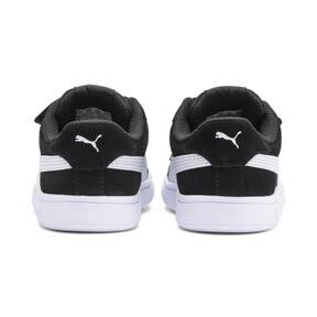 Thumbnail 4 of PUMA Smash v2 Suede Toddler Shoes, Puma Black-Puma White, medium