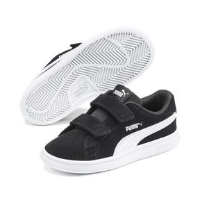 Thumbnail 2 of PUMA Smash v2 Suede Toddler Shoes, Puma Black-Puma White, medium