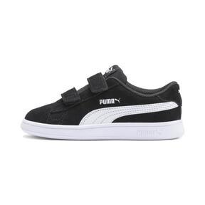 Thumbnail 1 of PUMA Smash v2 Suede Toddler Shoes, Puma Black-Puma White, medium