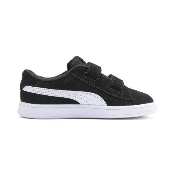 PUMA Smash v2 Suede Toddler Shoes, Puma Black-Puma White, large