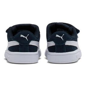 Thumbnail 4 of PUMA Smash v2 Suede Toddler Shoes, Peacoat-Puma White, medium