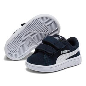 Thumbnail 2 of PUMA Smash v2 Suede Toddler Shoes, Peacoat-Puma White, medium