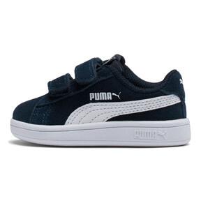 Thumbnail 1 of PUMA Smash v2 Suede Toddler Shoes, Peacoat-Puma White, medium