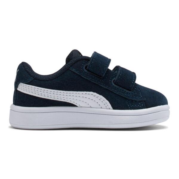 PUMA Smash v2 Suede Toddler Shoes, Peacoat-Puma White, large