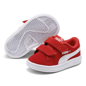 Thumbnail 2 of PUMA Smash v2 Suede Sneakers INF, High Risk Red-Puma White, medium