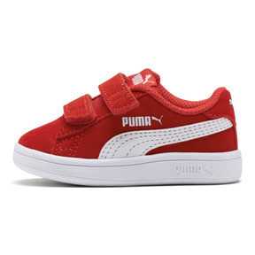 Thumbnail 1 of PUMA Smash v2 Suede Sneakers INF, High Risk Red-Puma White, medium