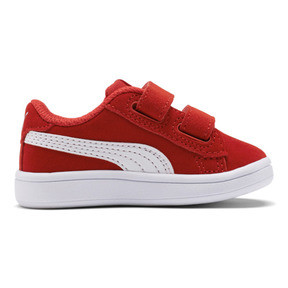 Thumbnail 5 of PUMA Smash v2 Suede Sneakers INF, High Risk Red-Puma White, medium
