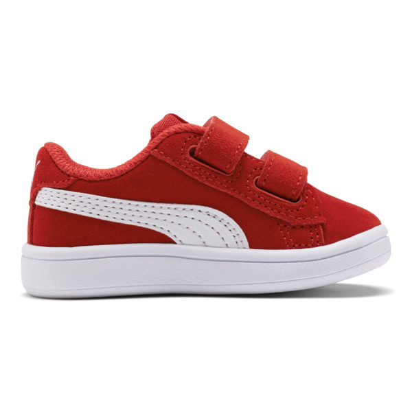 PUMA Smash v2 Suede Sneakers INF, High Risk Red-Puma White, large