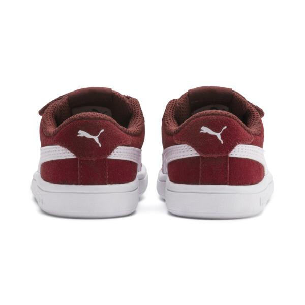 ZapatosPUMA Smash v2Suede para bebés, Rhubarb-Puma White, grande