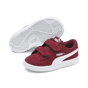 Miniatura 2 de ZapatosPUMA Smash v2Suede para bebés, Rhubarb-Puma White, mediano