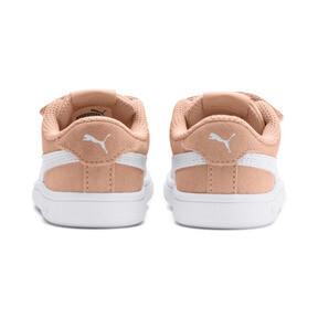 Thumbnail 3 of PUMA Smash v2 Suede Toddler Shoes, Peach Parfait-Puma White, medium