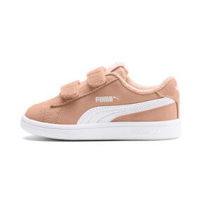 Thumbnail 1 of PUMA Smash v2 Suede Toddler Shoes, Peach Parfait-Puma White, medium